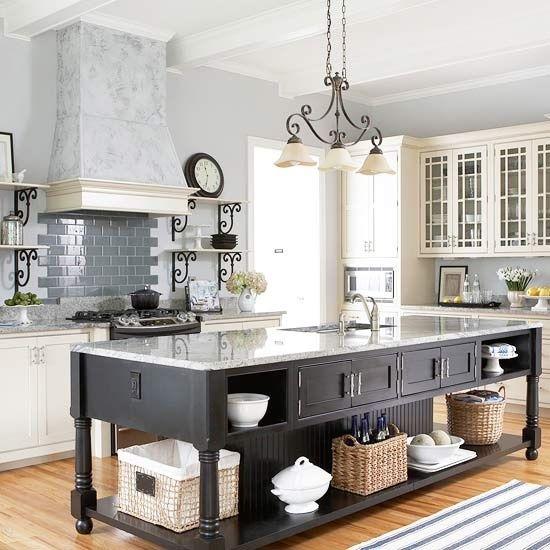 Cozinha butzke blog for Traditional black and white kitchen designs