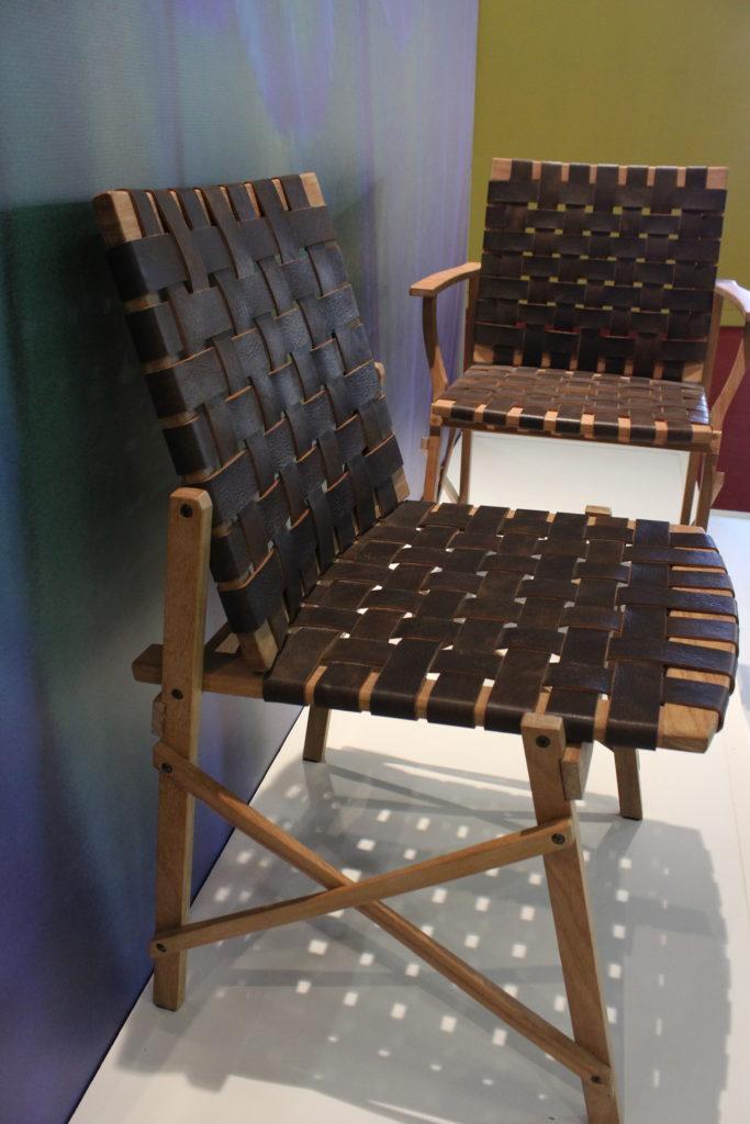 Cadeira Maresias com couro