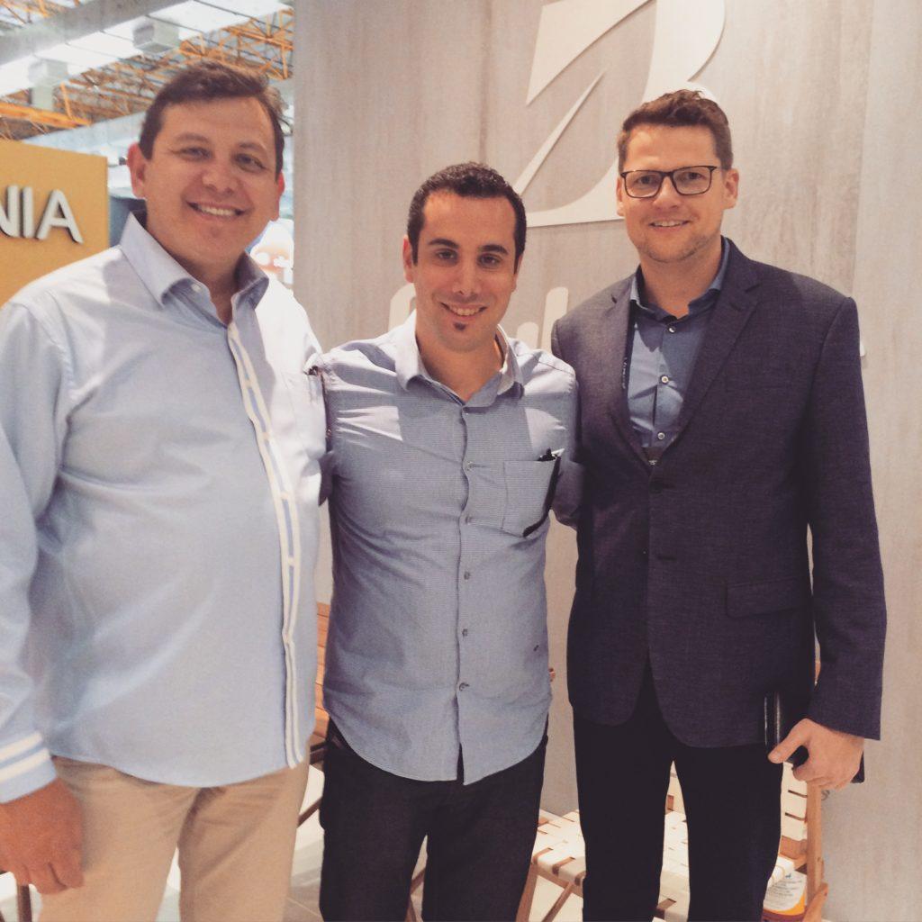 Amorim Jr, Equipe Butzke, Bruno da Novo Ambiente e Michel Otte, diretor da Butzke.