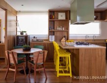 Apartamento Integrado - Projeto Marina Linhares Interiores