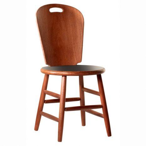 Cadeira São Paulo com Assento Fórmica Preta