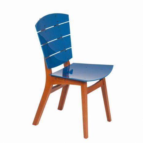 Cadeira Rio - Acrílico Azul Safira