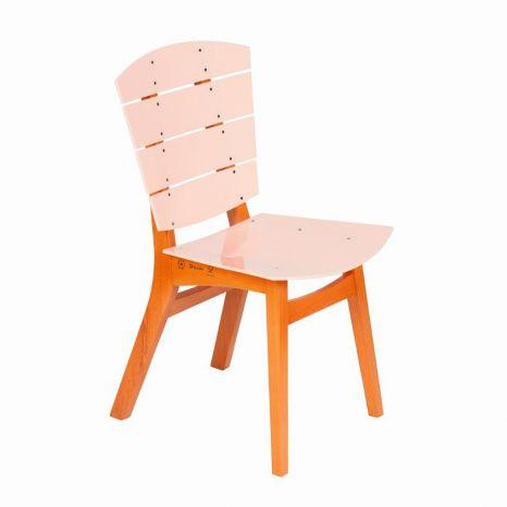 Cadeira Rio - Acrílico Rosa