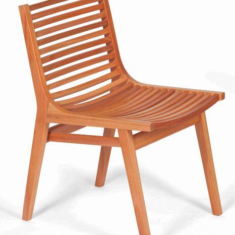 Cadeira Buriti Sem Braços - Verniz PU Natural