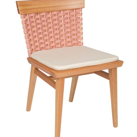 Cadeira Lótus sem Braços - Trama Rosa