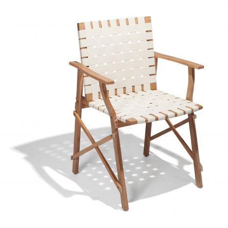 Cadeira Maresias com Braços - Percinta Bege