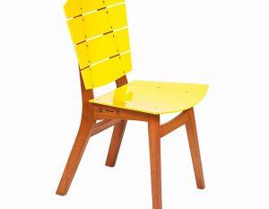 Cadeira Rio - Acrílico Amarelo