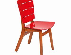 Cadeira Rio - Acrílico Vermelha