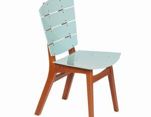 Cadeira Rio - Acrílico Azul Caribe
