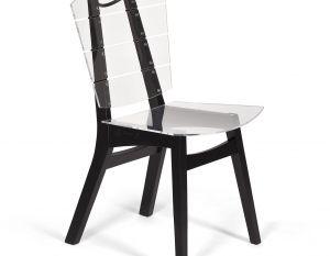 Cadeira Rio - Acrílico Cristal - Ébano
