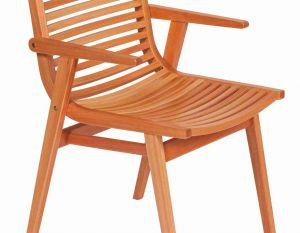 Cadeira Buriti Com Braços - Verniz PU Natural
