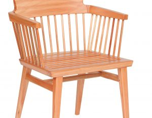 Cadeira Lótus com Braços - Verniz Natural (sem almofada)