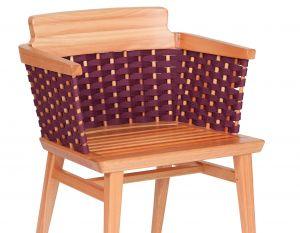 Cadeira Lótus com Braços - Trama Berinjela - Verniz Natural (sem almofada)