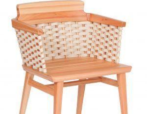 Cadeira Lótus com Braços - Trama Natural - Verniz Natural (sem almofada)