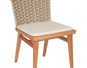 Cadeira Lótus sem Braços - Trama Cinza