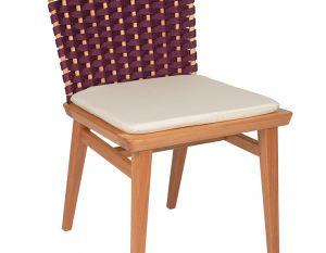 Cadeira Lótus sem Braços - Trama Berinjela