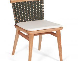 Cadeira Lótus sem Braços - Trama Verde Oliva