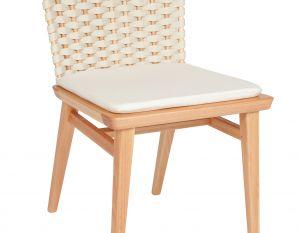 Cadeira Lótus sem Braços - Trama Natural  (com almofada)